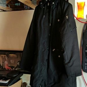 Swiss Tech Zipup Black Padded Jacket